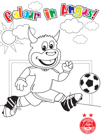 Angus the Bull Club - Colour in Angus!