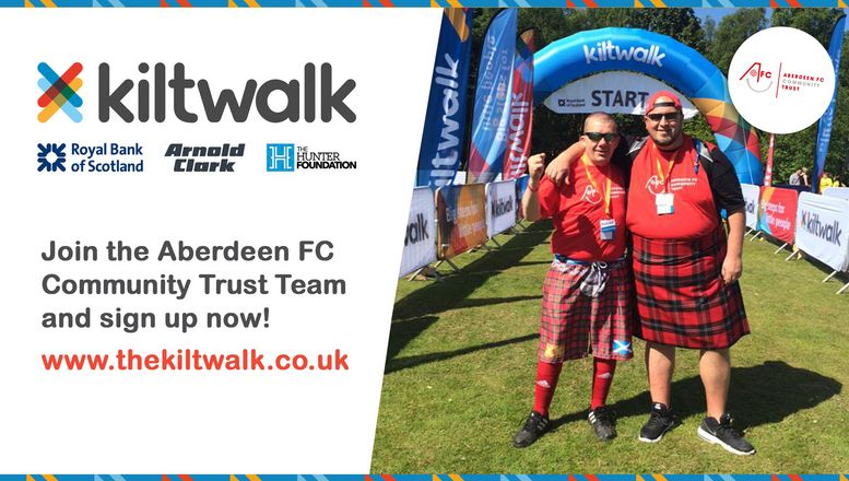 Enjoy a fun day out with AFCCT and the Kiltwalk!