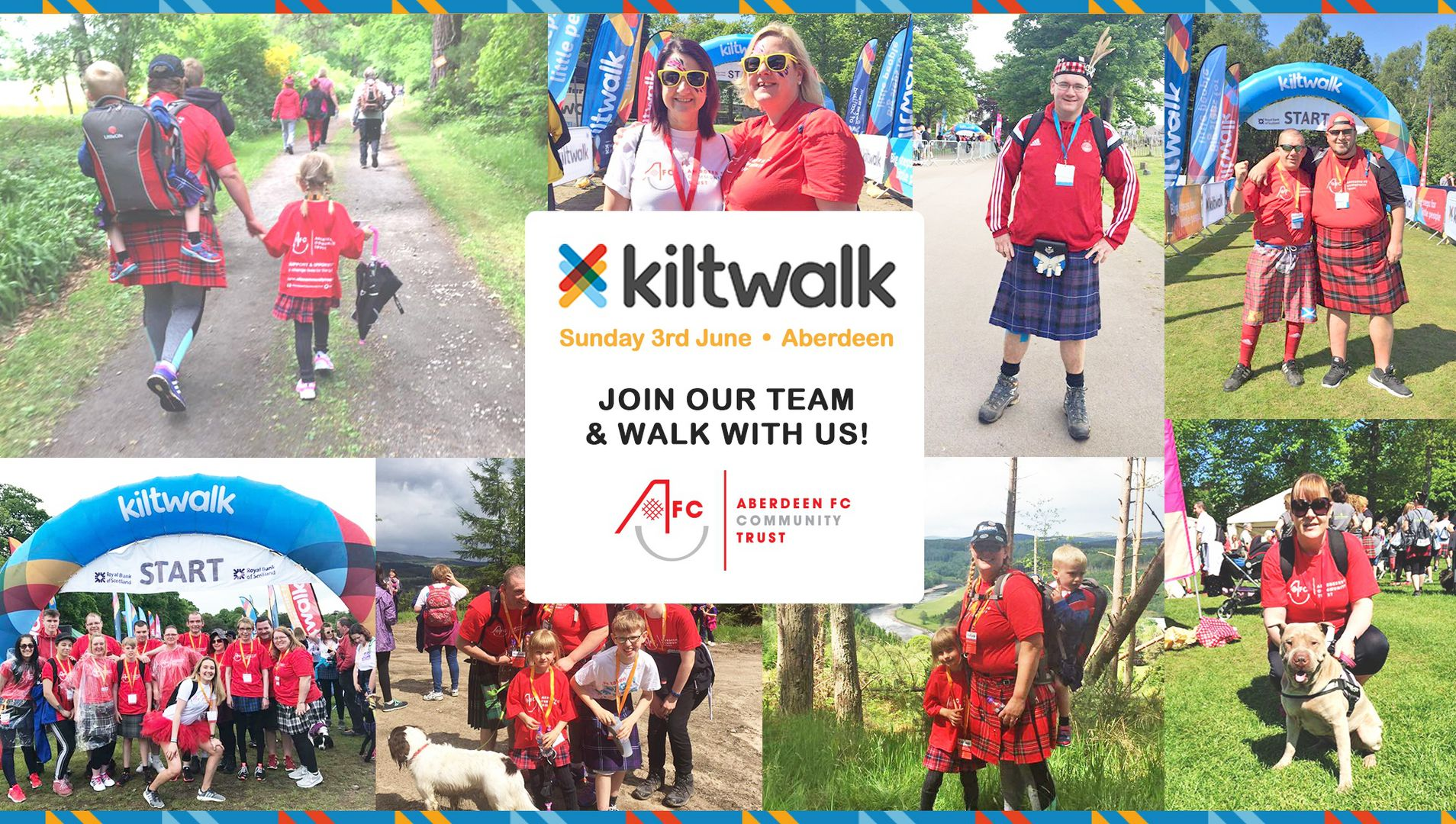 Don your tartan for AFCCT and the Kiltwalk
