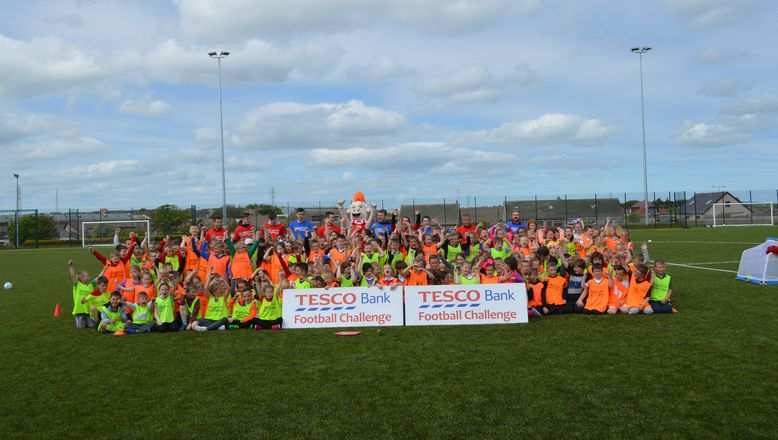 Cults and Peterhead have a visit from the Tesco Bank Football Challenge
