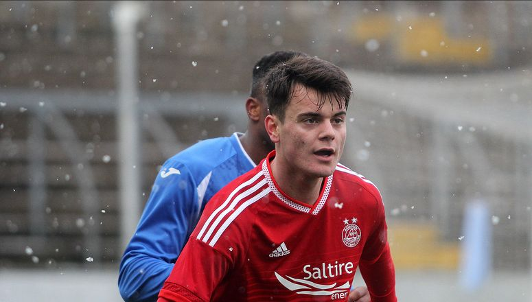 Tela during his test game; photo: Aberdeen FC